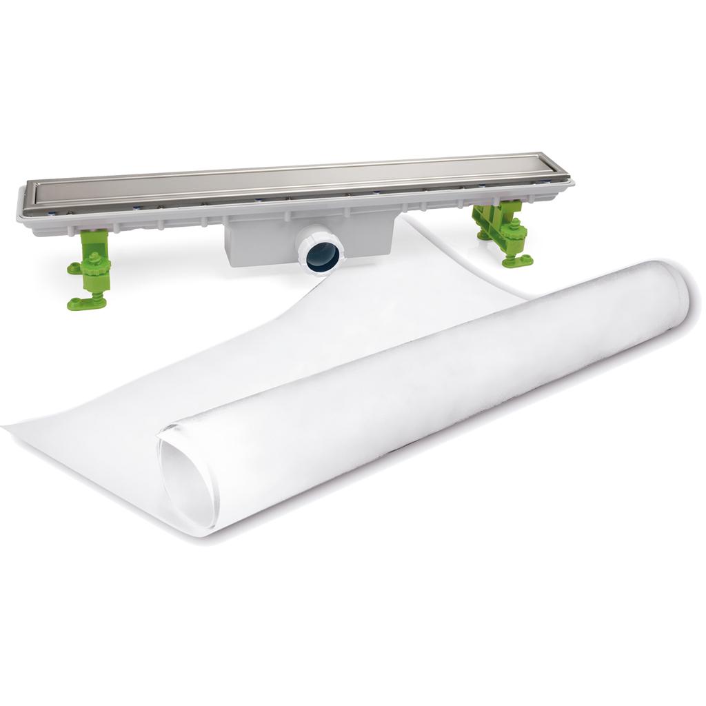 Canaleta para plato de ducha de obra s h rejilla perimetral de acero inox con tela geotextil - Plato de ducha de obra ...