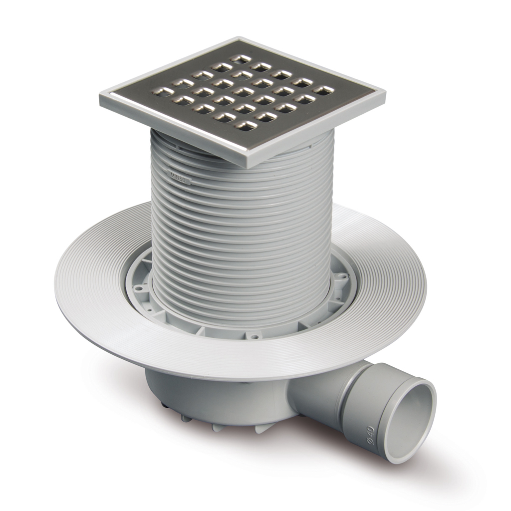 Sumidero sif nico para plato de ducha de obra salida for Plato de ducha flexible